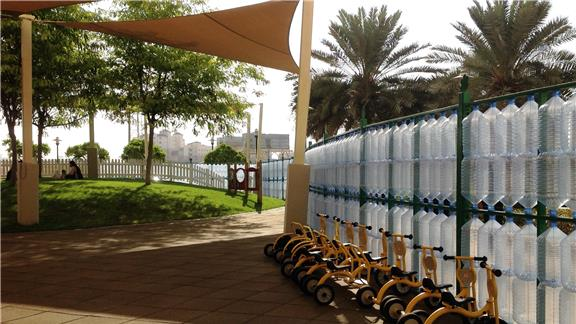 Longest fence made of recycled water bottles