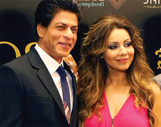 SRK and his wife