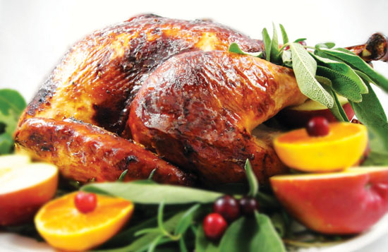 Juicy herb-roasted turkey
