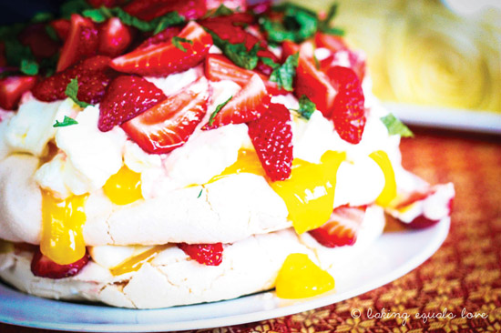 Berry pavlova pyramid recipe