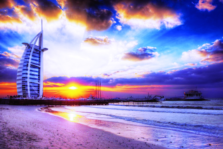 Sunset from Jumeirah beach