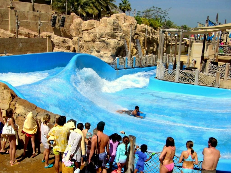Splash fun at waterpark