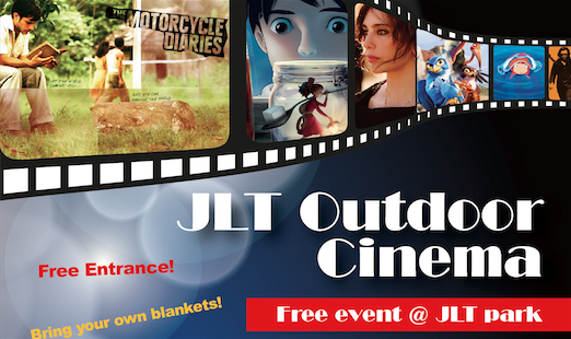 Free movie screenings under the night sky at JLT Park