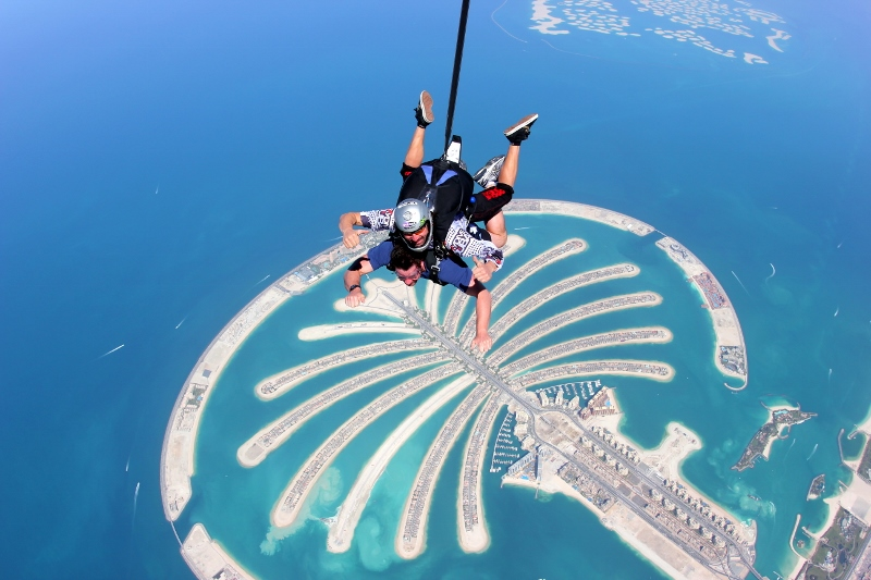 Ryan skydiving Dubai