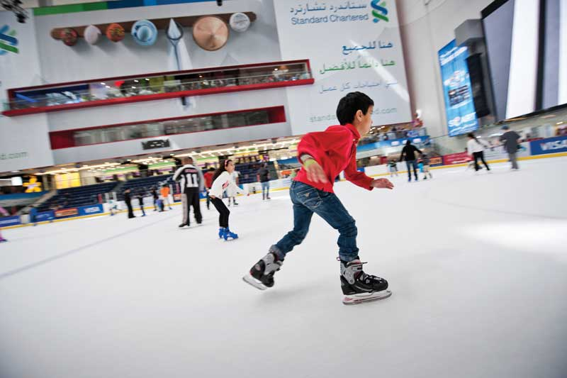 Skating on the Dubai ice