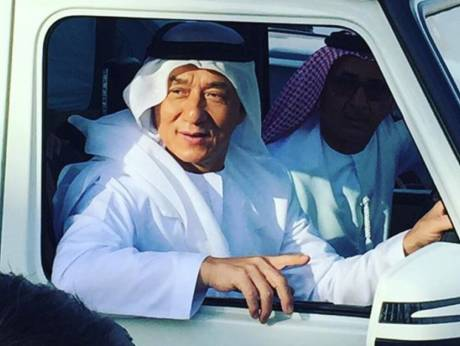 Jackie Chan in a kandura